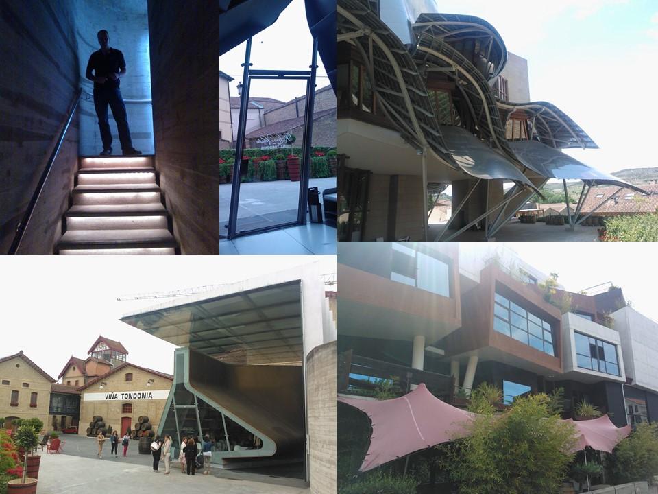 Imagen 5. En La Rioja, aparte de deporte, vino y gastronomía, Pilar y yo nos dimos el placer de recorrer las interesantes propuestas arquitectónicas de la zona.