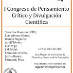 ¡Estamos en el 1er Congreso de Pensamiento Crítico y Divulgación Científica!